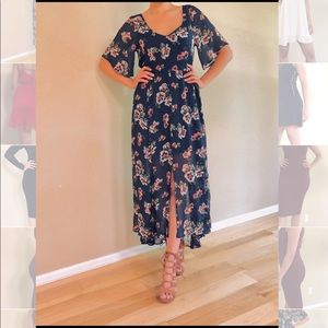 Abercrombie and Fitch floral maxi dress